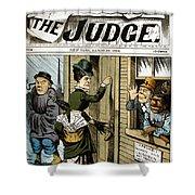 Suffrage Cartoon, 1884 Shower Curtain