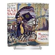 Suffragette Parade, 1913 Shower Curtain
