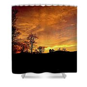 Suffused With Harmony Shower Curtain