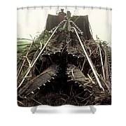 Sugar Cane Cutter Shower Curtain