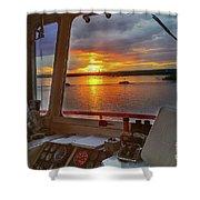 Sugar Islander II Sunrise -0054 Shower Curtain