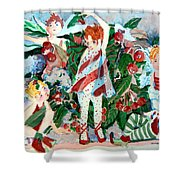 Sugar Plum Fairies Shower Curtain