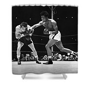 Sugar Ray Robinson Shower Curtain by Granger