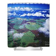 Sugarcane Fields In Central Maui Shower Curtain