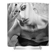 Sugared Skin 2 - Self Portrait Shower Curtain