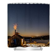 Sugaring View With Stars Shower Curtain