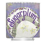 Sugarplum Logo Shower Curtain