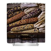Suitcase Full Of Indian Corn Shower Curtain