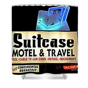 Suitcase Motel Shower Curtain
