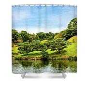 Suizenji Lake Shower Curtain
