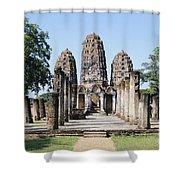 Sukhothai Khmer Sanctuary Shower Curtain