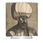 Suleyman The Magnificent , Engraved By Melchior Lorck Shower Curtain
