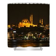 Suleymaniye At Night Shower Curtain