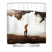 Sulfur Clouds Shower Curtain