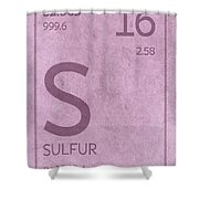 Sulfur Element Symbol Periodic Table Series 016 Shower Curtain