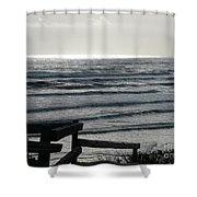 Sullen Seas Shower Curtain