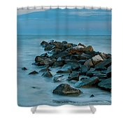 Sullivan's Island Rock Jetty Shower Curtain