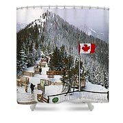 Sulphur Mountain In Banff National Park In The Canadian Rocky Mountains Shower Curtain