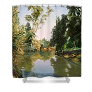 Sultry Day Shower Curtain