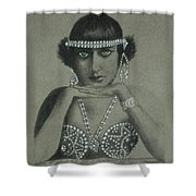 Sultry Silent Star -- Portrait Of Silent Film Star Shower Curtain