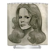 Sultry Smile Shower Curtain