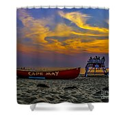 Summer Sunset In Cape May Nj Shower Curtain