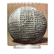 Sumerian Cuneiform Shower Curtain