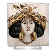 Sumerian Headdress Shower Curtain