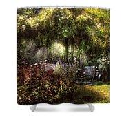 Summer - Landscape - Eve's Garden Shower Curtain by Mike Savad