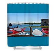 Summer Afternoon Boating Shower Curtain