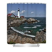 Summer Afternoon, Portland Headlight Shower Curtain