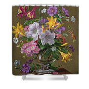 Summer Arrangement In A Glass Vase Shower Curtain