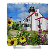 Summer At East Point Light Shower Curtain