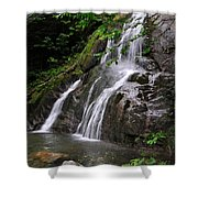 Summer At Glen Moss Falls Shower Curtain