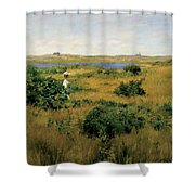 Summer At Shinnecock Hills Shower Curtain by William Merritt Chase