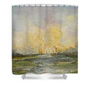 Summer At The City Shower Curtain