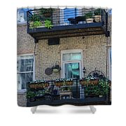 Summer Balconies In Chicago Illinois Shower Curtain