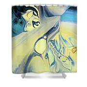 Summer Beach Abstract Shower Curtain