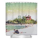 Summer Beach Sunshine Shower Curtain