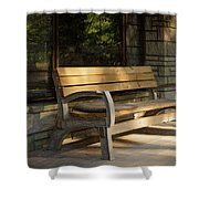 Summer Bench Shower Curtain