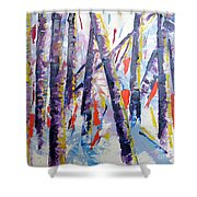 Summer Birches Shower Curtain