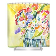 Summer Blooms Shower Curtain