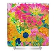 Summer Blossoms - Pop Art Shower Curtain