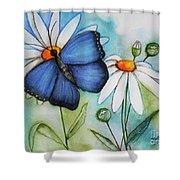 Summer Blue Shower Curtain