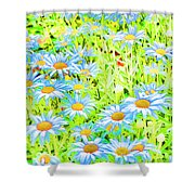 Summer Blues Shower Curtain