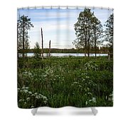 Summer By The Lake Enajarvi Shower Curtain