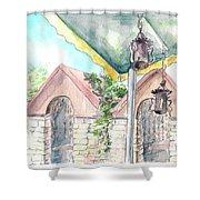 Summer Cafe Shower Curtain
