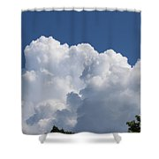 Summer Clouds In Maine Shower Curtain