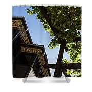 Summer Courtyard - Decorated Eaves And Grape Arbors In The Sunshine Shower Curtain