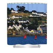 Summer Cove, Kinsale, Co Cork, Ireland Shower Curtain